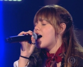 Friburguense Giovana Aguilera é classificada na 1ª fase do The Voice Kids Brasil