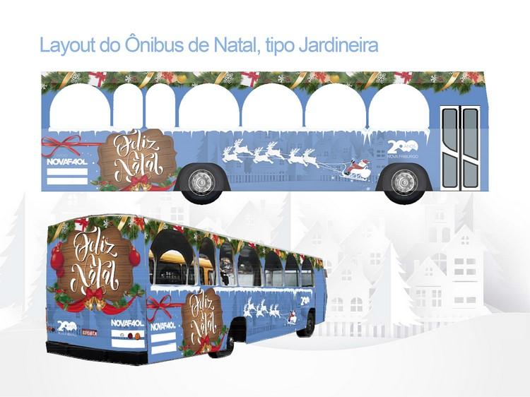O ônibus natalino da Faol (Divulgação)