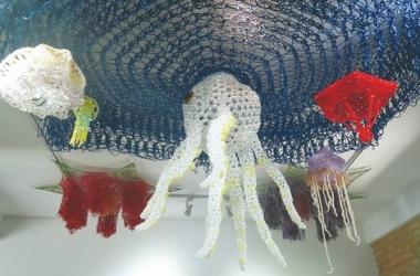 Uma das obras expostas (Foto: Regina Lo Bianco)