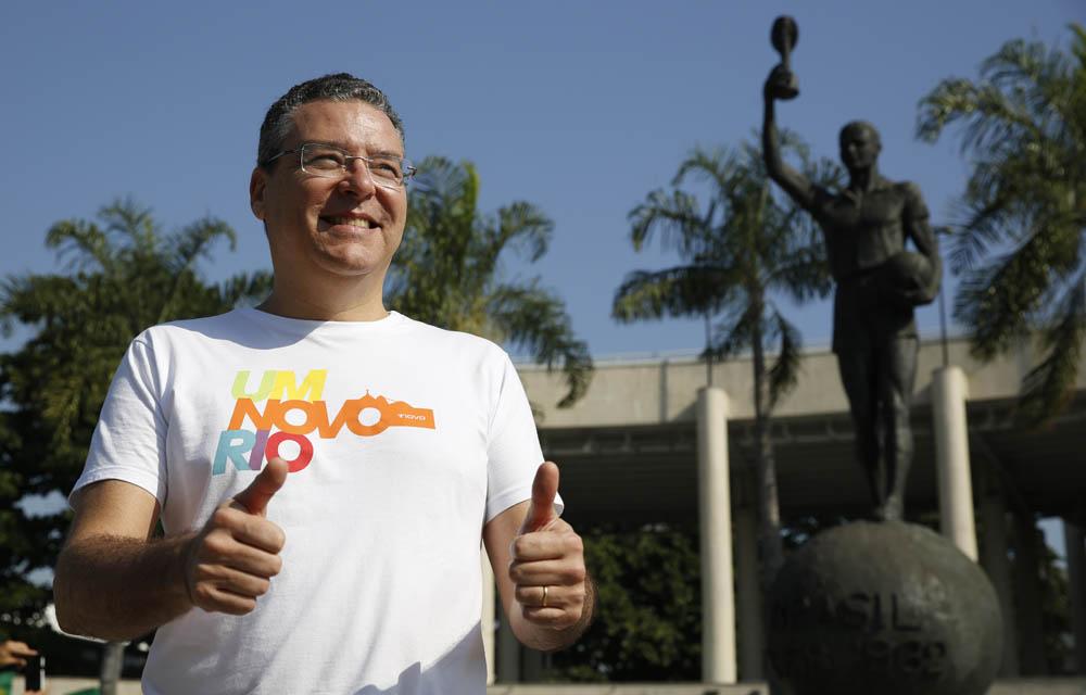 Marcelo Trindade caminha no Maracanã (Foto: Marcos André Pinto)