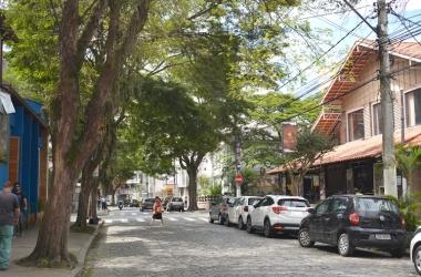 A Rua José Eugênio Muller hoje (Foto: Henrique Pinheiro)