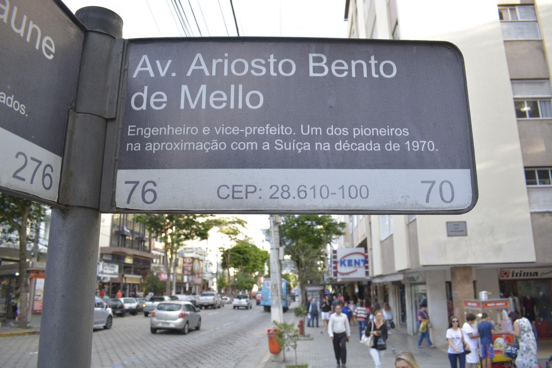 A avenida que homenageia o engenheiro (Foto: Henrique Pinheiro)