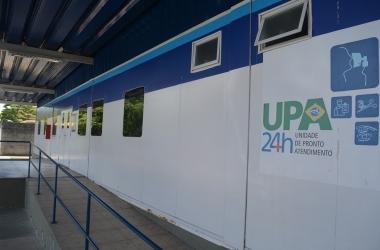 A UPA fechada nesta quarta (Fotos: Henrique Pinheiro)