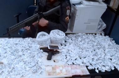 Material apreendido sexta-feira no Rui Sanglard em operação policial