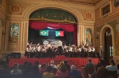 A apresentação no Anchieta (Foto: Divulgação)