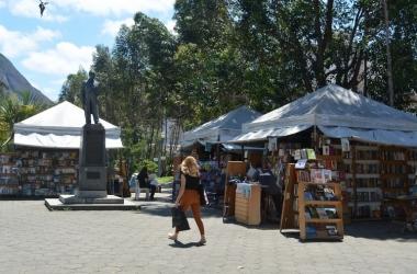 A feira na praça (Foto: Henrique Pinheiro)