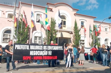 No ano passado, o Sepe organizou diversos atos públicos em defesa da educação municipal (Arquivo AVS)