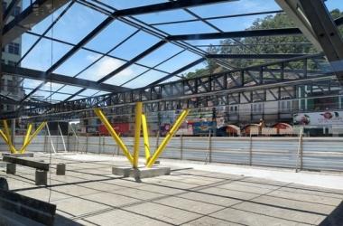 A Estação Livre em obras (Foto: Guilherme Alt)