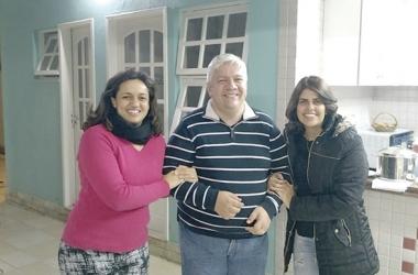 Leandra, Marcelo e Maira: amizade para a vida (Arquivo pessoal)
