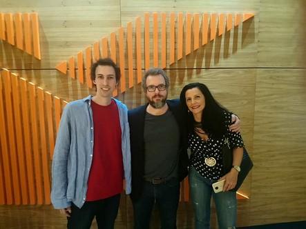 O músico Caio Márcio Chaves, o ator Augusto Madeira e a pianista Fernanda Canaud