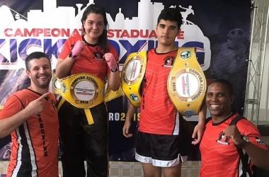 Lutadores friburguenses conquistam medalhas no Kickboxing