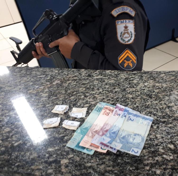 Jovem é preso em Bela Vista suspeito de tráfico de drogas