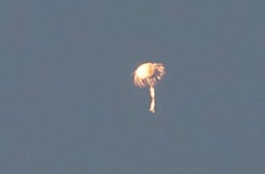 O balão fotografado por André Ferreira (Foto: André Ferreira)