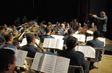 A Orquestra Sinfônica da PM (Arquivo AVS)