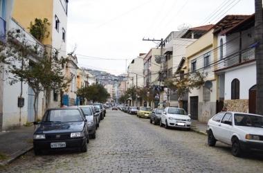 A Rua José Tessarolo Santos, antiga Baronesa, no Paissandu (Arquivo AVS)