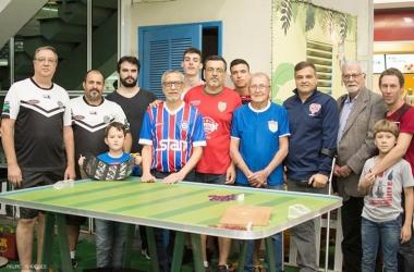 No último final de semana, o futebol de mesa voltou às origens com atividades em um dos shoppings da cidade (Foto: Arquivo pessoal)