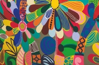 Uma das telas de Dila Vidal (Foto: Regina Lo Bianco)