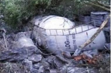 Foto do acidente, de leitores