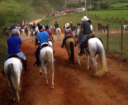 A cavalgada em Conquista (Foto de leitor)