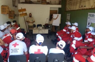 O treinamento dos voluntários (Foto: Cruz Vermelha NF)