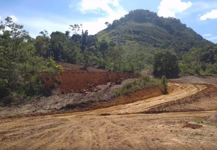 A área desmatada em Macaé de Cima (Foto: Upam Três Picos)
