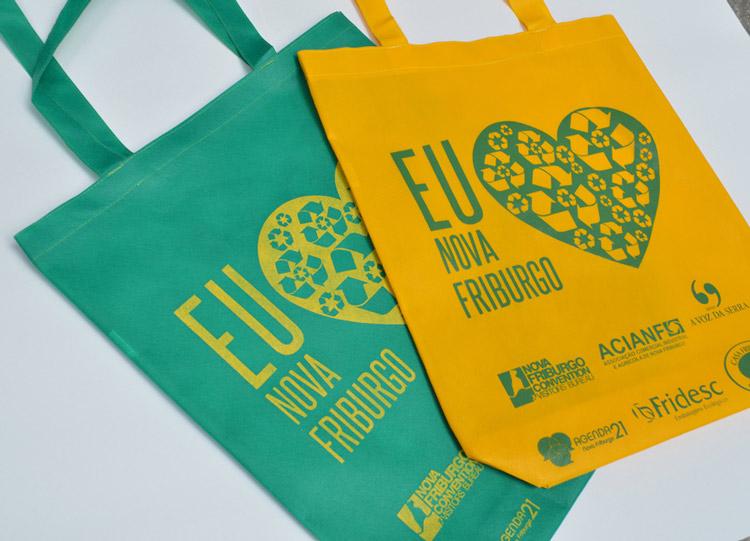 Ação de 2014 apoiada pelo jornal que visava fomentar a utilização de sacolas reutilizáveis