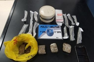 A droga que estava em poder dos detidos (11 BPM)