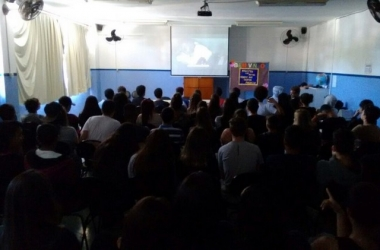 Exibição de filme no Fricine para sala lotada (Arquivo AVS)