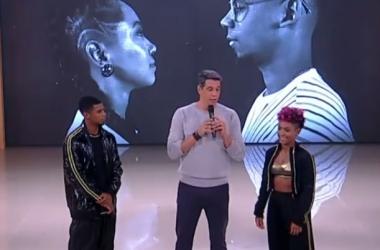 Marcio Garcia conversa com irmãos Douglas e Talita Felizardo (Reprodução TV Globo)