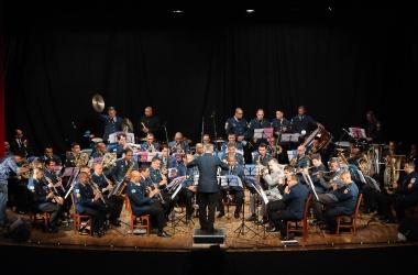 A Orquestra Sinfônica da PM se apresenta (Fotos: Daniel Marcus)