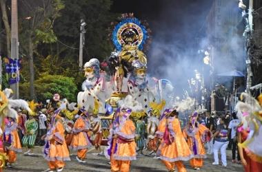 O desfile da Bola Branca no sábado (Fotos: PMNF)