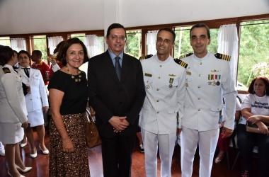 O prefeito Renato Bravo na troca de comando (Foto: Daniel Marcus/ PMNF)
