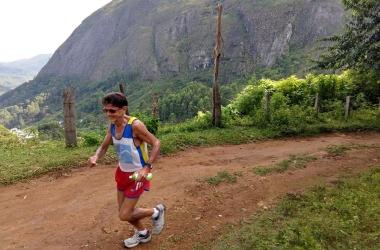 Nazareno treinando nas trilhas de Friburgo