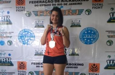 A jovem Gabriela brilhou e conseguiu conquistar a medalha de ouro em sua categoria