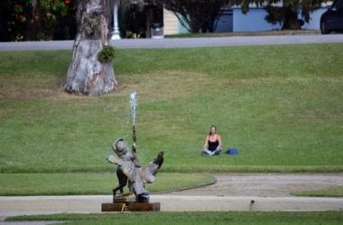 Meditação no parque São Clemente (Fotos: Henrique Pinheiro)