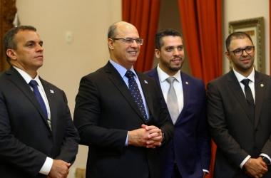 A cerimônia que oficializou a convocação dos novos policiais (Divulgação)