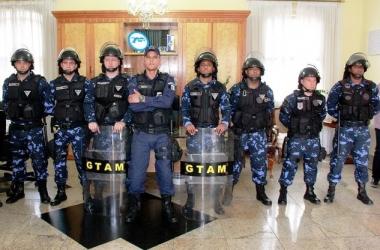 Os guardas de Nova Friburgo que fizeram o curso (Foto: Dniel Marcus/PMNF)