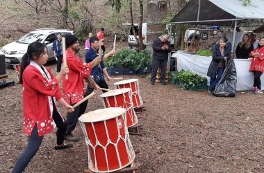 A apresentação de Taikô (tambores) na Hanami (Foto de divulgação)