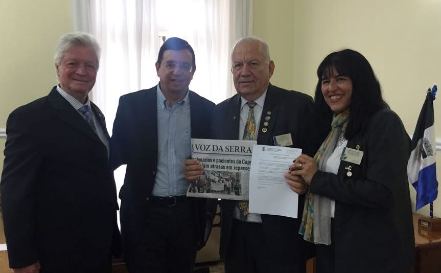 Governador do Rotary Clube visita Friburgo e é declarado hóspede oficial