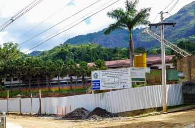 As obras, paradas, do Hospital do Câncer (Arquivo AVS)