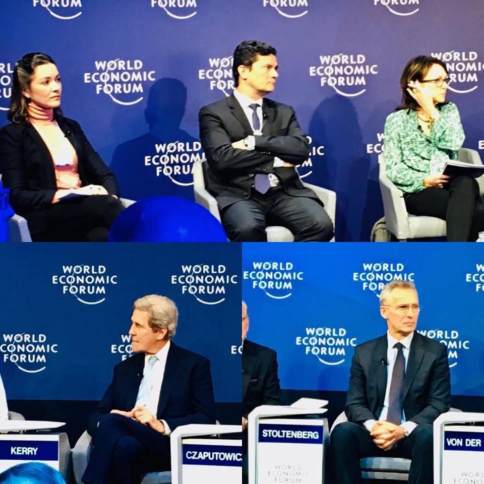 Ilona e Moro em Davos (Reprodução da web)