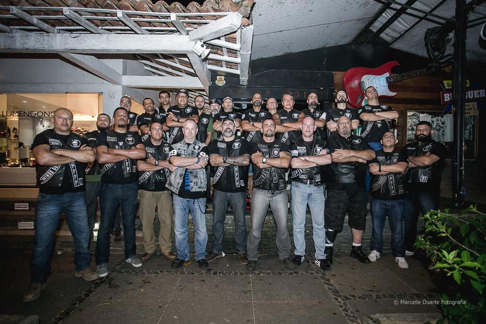 Integrantes do Punisher Law Enforcement Motorcycle Club (Divulgação)