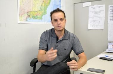 Vinicios Abreu, chefe da agência do Instituto Brasileiro de Geografia e Estatística (IBGE) em Nova Friburgo (Foto: Marcio Madeira)