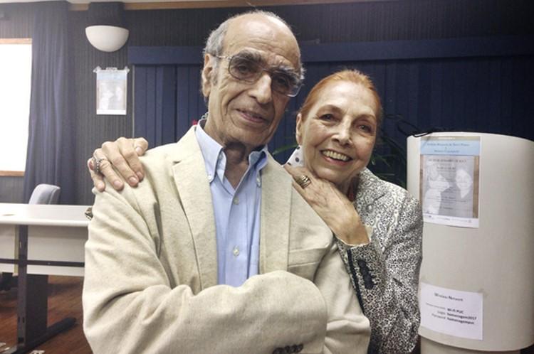 Affonso Romano e Marina Colasanti (Foto: PUC-Rio)