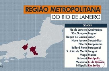 Cachoeiras, Petrópolis e Rio Bonito podem sair da Região Metropolitana