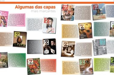 Catorze entre mais de 50 capas produzidas: temas dos mais diversos (Infografia: Davi Taveira)