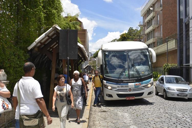 ônibus intermunicipal em Nova Friburgo (Arquivo AVS)