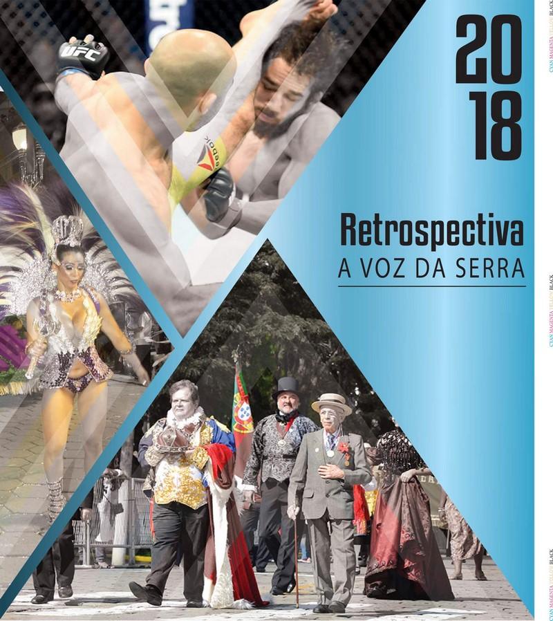 A capa do caderno Retrospectiva 2018 (Reprodução)