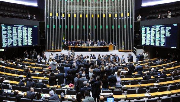O plenário da Câmara dos Deputados em Brasília