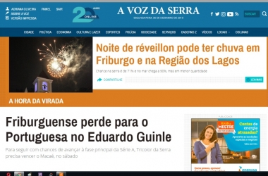 O site de A VOZ DA SERRA